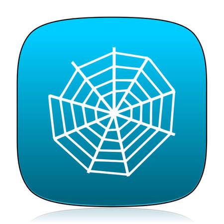 spider web: spider web blue icon