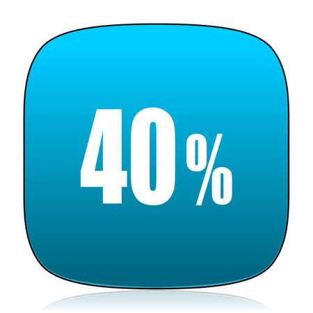 40: 40 percent blue icon