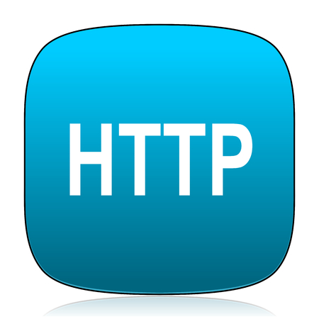 http: http blue icon Stock Photo