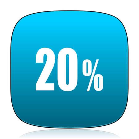 20: 20 percent blue icon