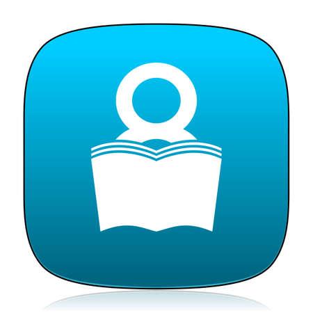 bibliophile: book blue icon Stock Photo