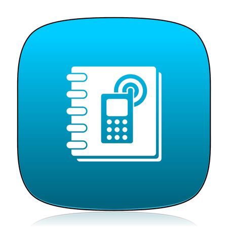 phonebook: phonebook blue icon Stock Photo