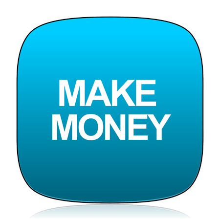 make money: make money blue icon
