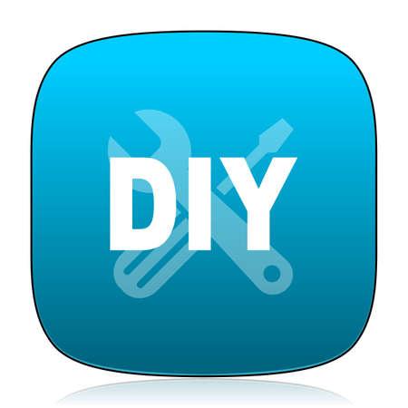 diy: diy blue icon Stock Photo