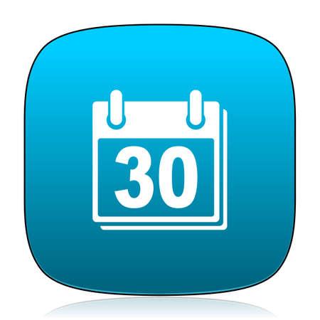 calendar icon: calendar blue icon Stock Photo