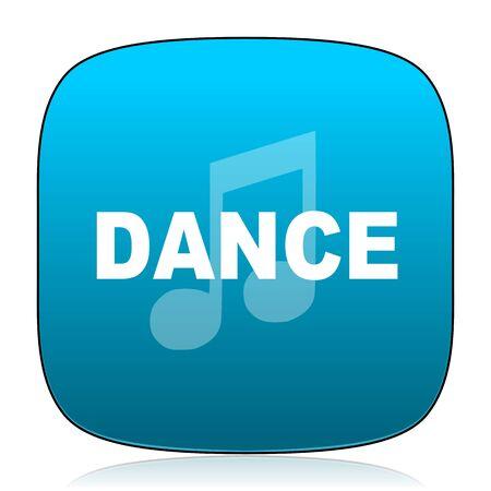 computer dancing: dance music blue icon