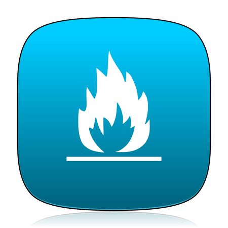blue flame: flame blue icon