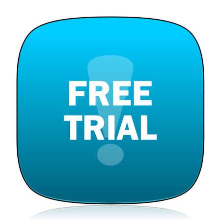 gratuity: free trial blue icon