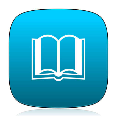 guestbook: book blue icon Stock Photo