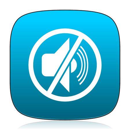 mute: mute blue icon Stock Photo