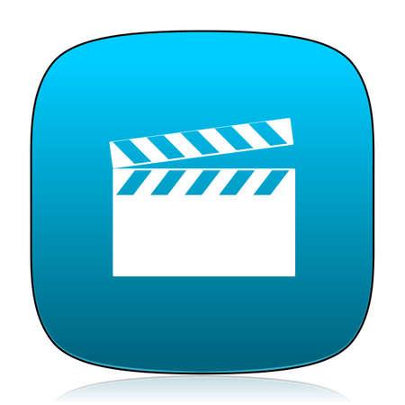 cinematograph: video blue icon