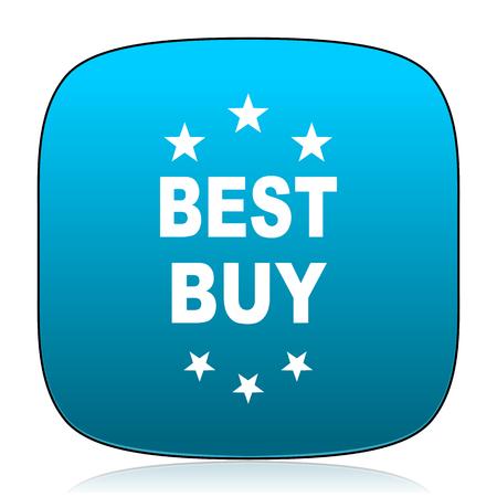 best buy: best buy blue icon Stock Photo