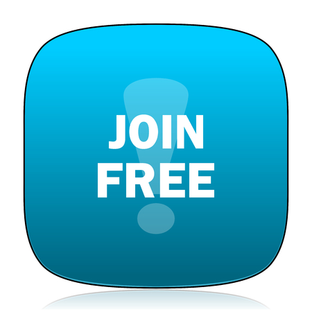 join: join free blue icon