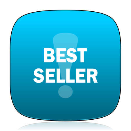 at best: best seller blue icon