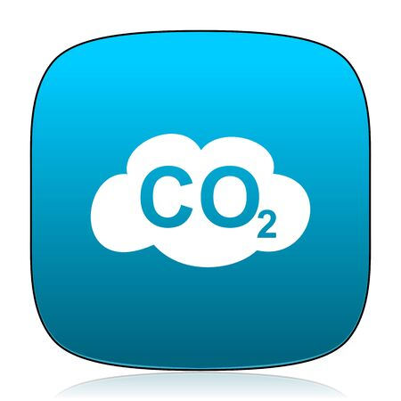 dioxide: carbon dioxide blue icon