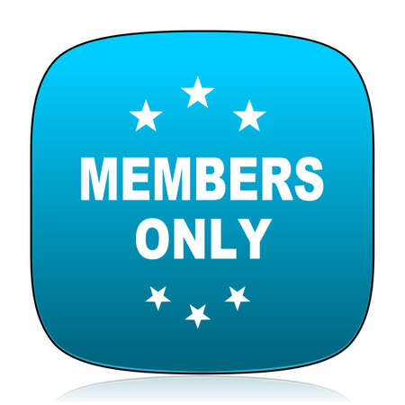 members: members only blue icon