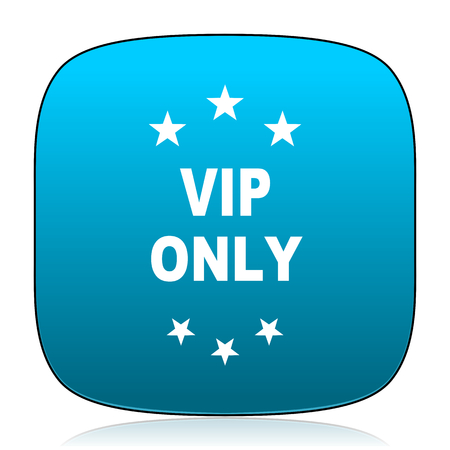 only: vip only blue icon