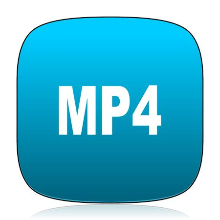 mp4: mp4 blue icon Stock Photo