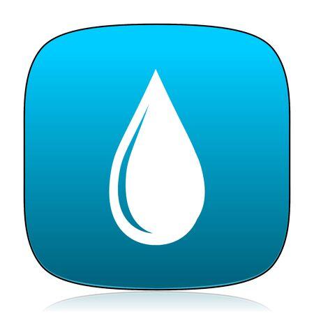 drinkable: water drop blue icon