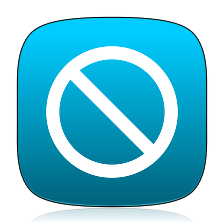denied: access denied blue icon Stock Photo