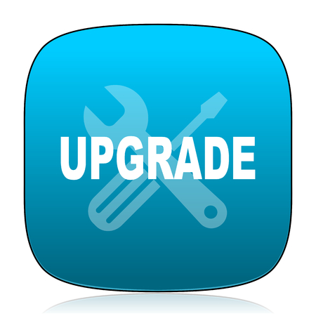 upgrade: upgrade blue icon