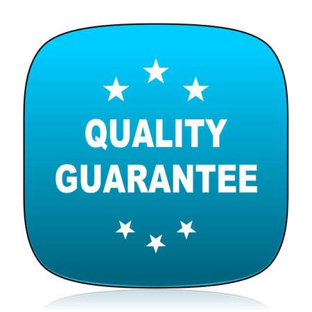 quality guarantee: quality guarantee blue icon