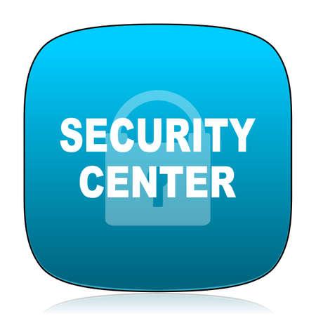 security icon: security center blue icon Stock Photo