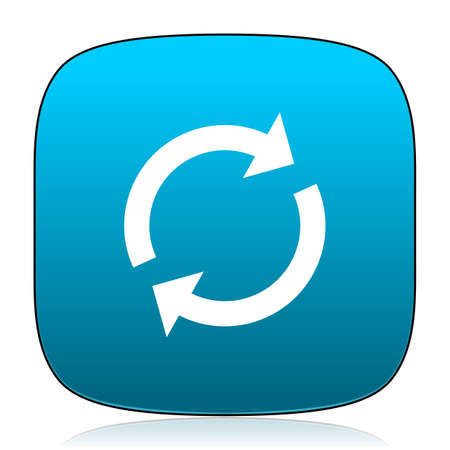 reload: reload blue icon Stock Photo