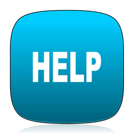 helps: help blue icon