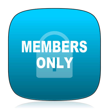 only members: members only blue icon