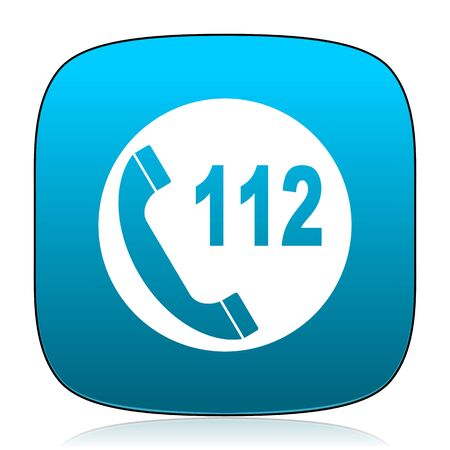 emergency call: emergency call blue icon