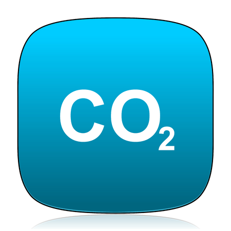 dioxide: carbon dioxide blue icon