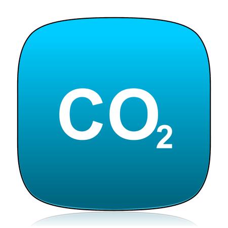 dioxido de carbono: el di�xido de carbono azul icono Foto de archivo