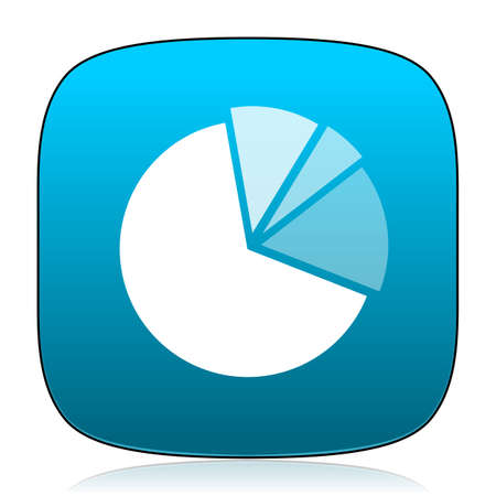 economic interest: diagram blue icon