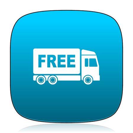 deliverance: free delivery blue icon