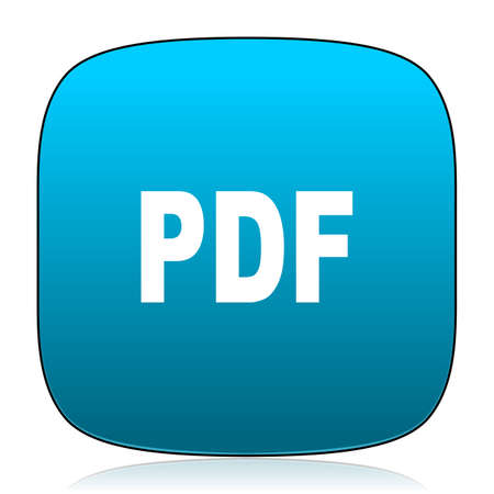 pdf: pdf blue icon