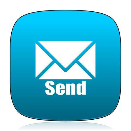 send: send blue icon