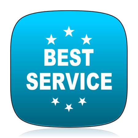 at best: best service blue icon