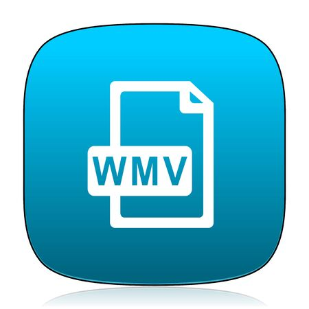 wmv: wmv file blue icon