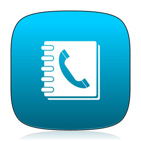 phonebook: phonebook blue icon Stock Photo