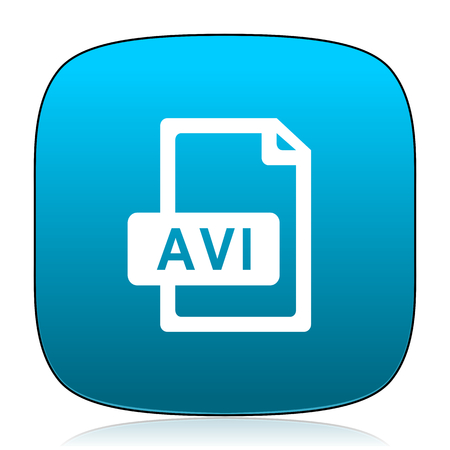 avi: avi file blue icon