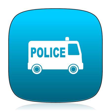 highway patrol: police blue icon