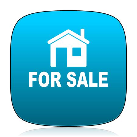 for sale: for sale blue icon Stock Photo