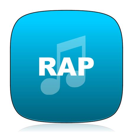 rap music: rap music blue icon