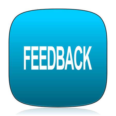 feedback: feedback blue icon