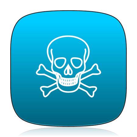 pirating: skull blue icon Stock Photo
