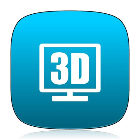 display: 3d display blue icon