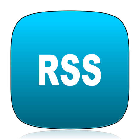 rss: rss blue icon Stock Photo