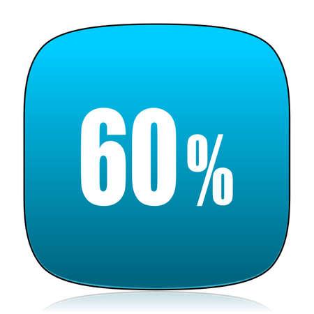 60: 60 percent blue icon