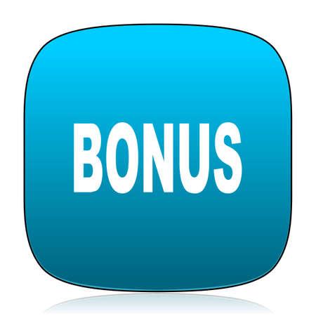 bonus: bonus blue icon Stock Photo